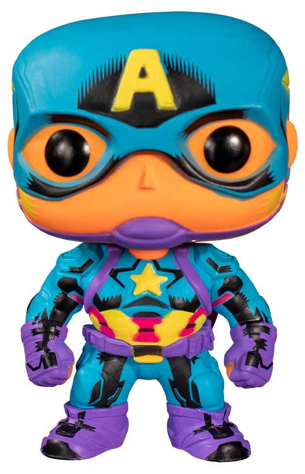 Funko POP - Marvel: Captain America (Black Light) Special Edition
