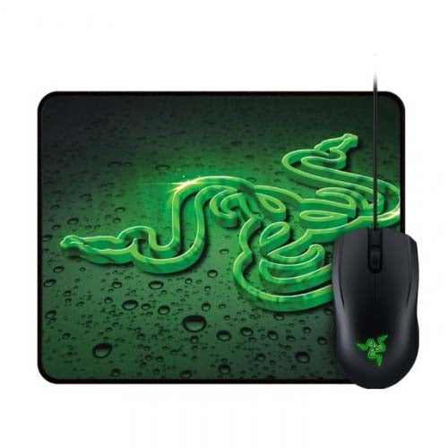 Razer Abyssus Gaming Mouse + Goliathus Control Fissure Mouse Mat Construct Bundle