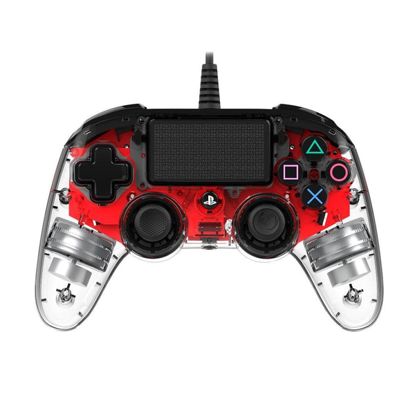 Nacon Compact Light Controller for PS4 - ILLUMINATED Red