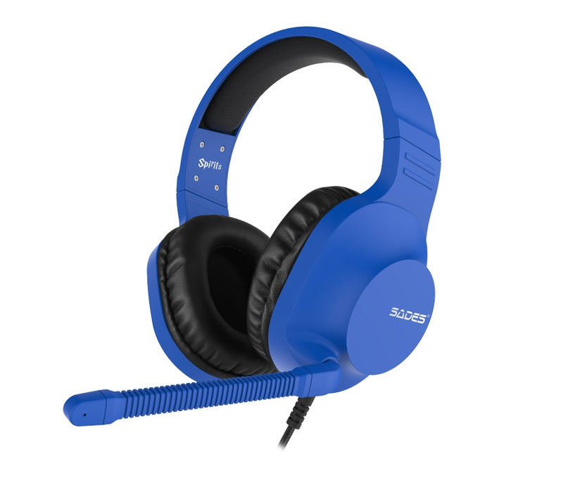 SADES: Spirit SA-721 - Gaming Headset (Blue)