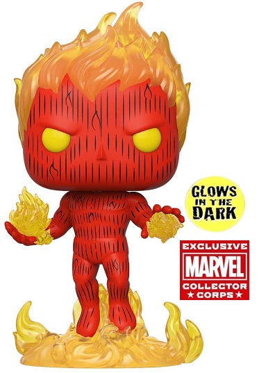 Funko POP! Fantastic Four - Human Torch Glow in the Dark (Exclusive)
