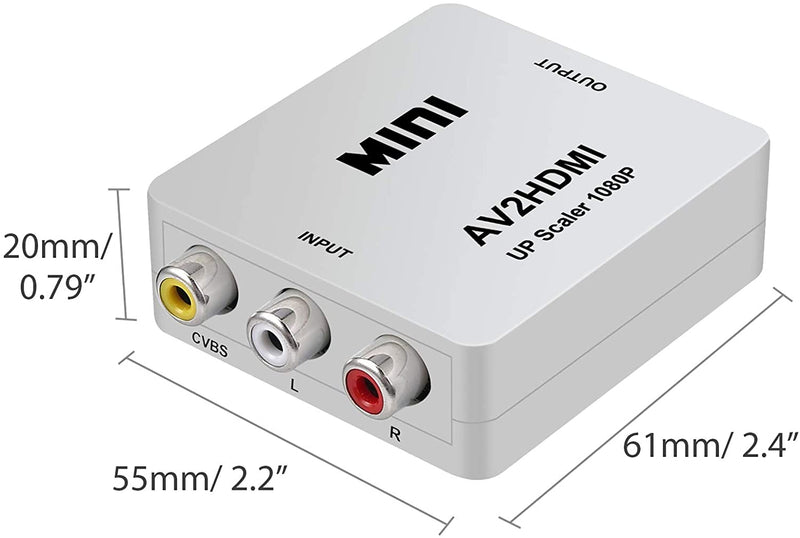 Mini HD Video Converter AV To HDMI Full HD 1080p