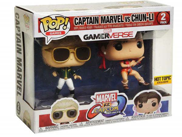 Funko Pop! Captain Marvel vs Chun-Li (Hot Topic Exclusive)
