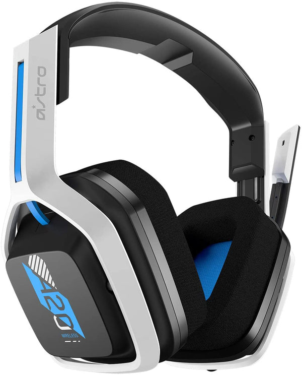 ASTRO Gaming A20 Wireless Headset Gen 2 for PS5, PS4, PC, Mac - White / Blue
