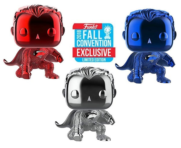Funko POP! DC Comics - Superman Chrome 3 Pack (Limited Edition)