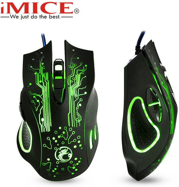 iMice X9 Wired Gaming Mouse USB Optical
