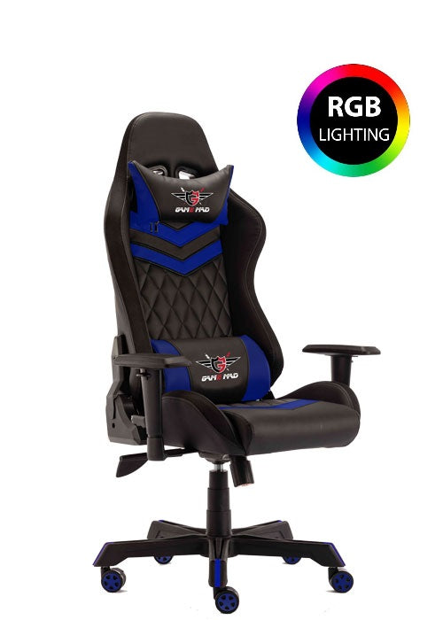 Game Mad Gaming Chair Moving Light RGB - Black/Blue