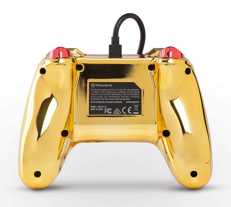 PowerA Wired Controller for Nintendo Switch - Chrome Metroid