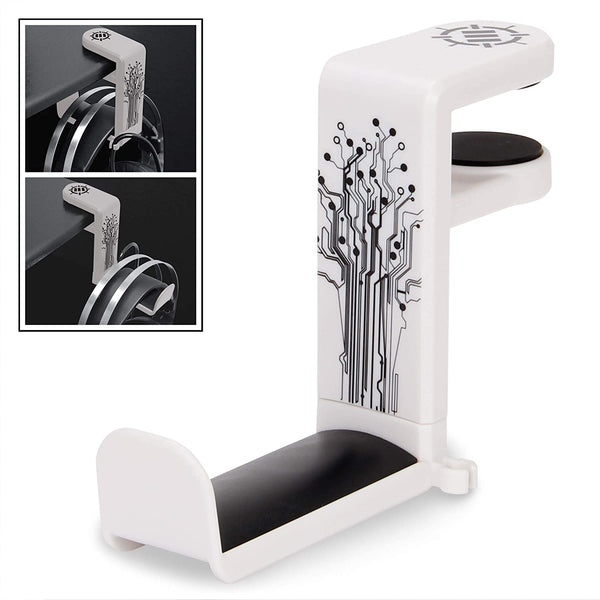 ENHANCE Desk Gaming Headphone Holder - White