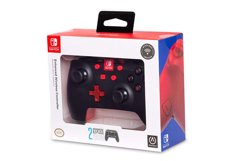 PowerA Enhanced Wireless Controller for Nintendo Switch - Black/Red