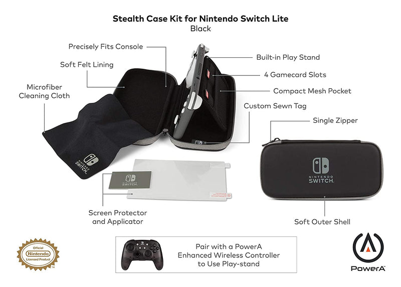 PowerA Stealth Case Kit For Nintendo Switch Lite