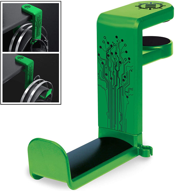 ENHANCE Desk Gaming Headphone Holder - Green