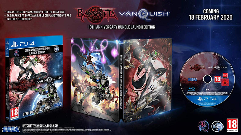 [PS4] Bayonetta & Vanquish 10th Anniversary Bundle (STEELBOOK) - R2