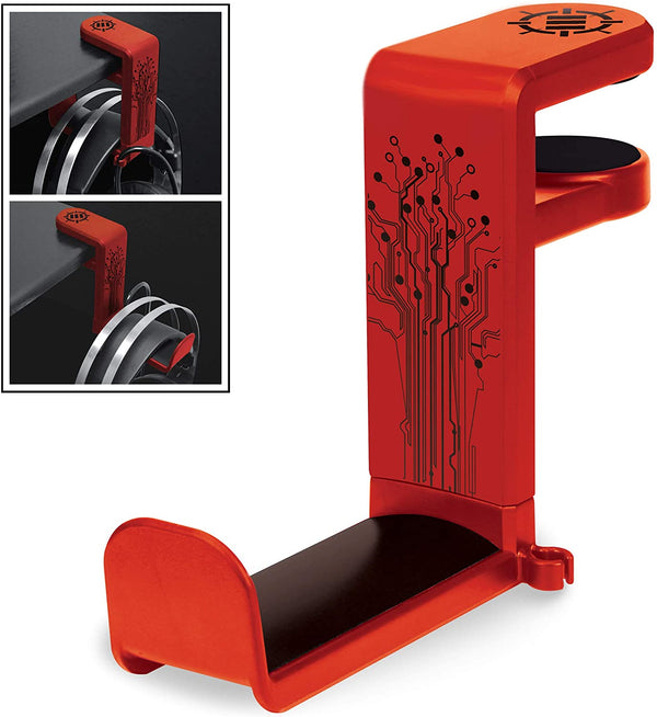 ENHANCE Desk Gaming Headphone Holder - Red