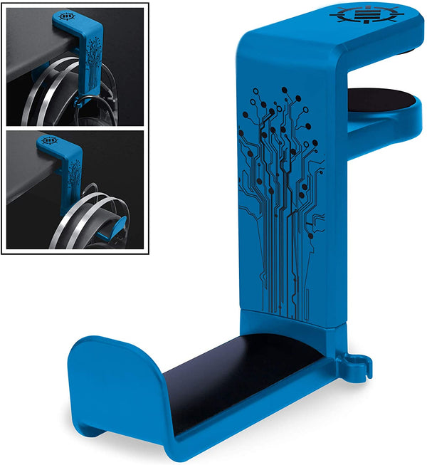ENHANCE Desk Gaming Headphone Holder - Blue