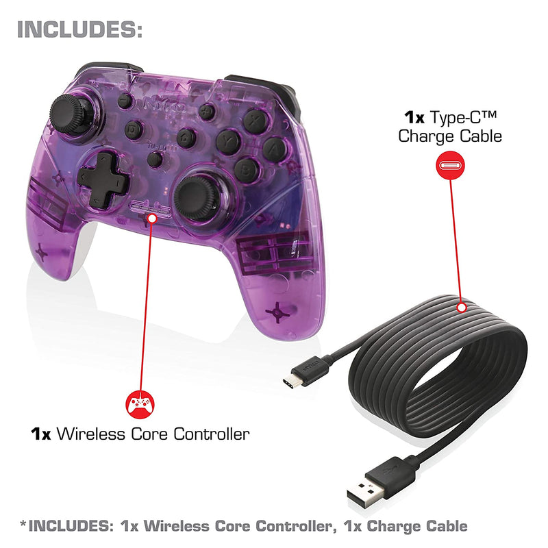Nyko Wireless Core Controller with Turbo for Nintendo Switch - Purple/White