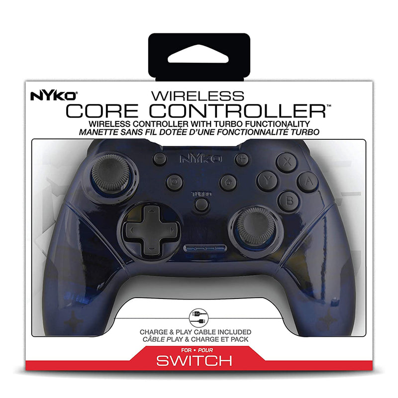 Nyko Wireless Core Controller with Turbo for Nintendo Switch – Blue/White