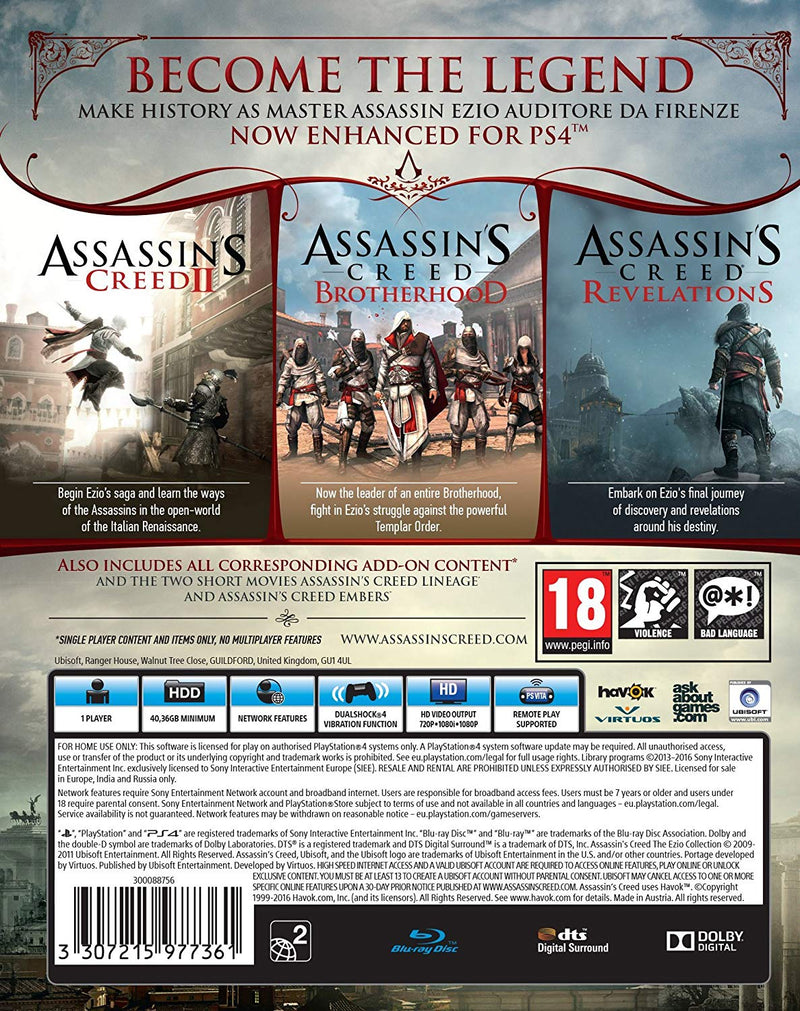 [PS4] Assassins Creed The Ezio Collection - R2