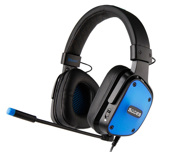 Sades: DPower SA-722 - Gaming Headset (Blue)