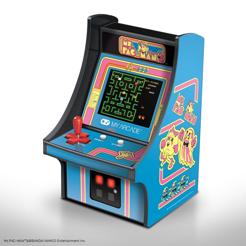 "My Arcade 6.75"" COLLECTIBLE RETRO MS. PAC-MAN MICRO PLAYER"