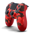 PS4 DualShock 4 Wireless Controller - Red Camouflage