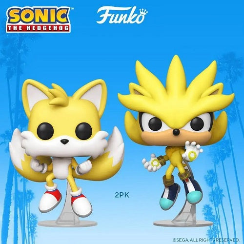 Funko POP - Games: Sonic the Hedgehog - Super Tails and Super Silver (Special Edition)