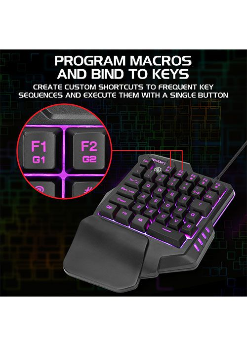 ENHANCE Single Handed Gaming Keyboard