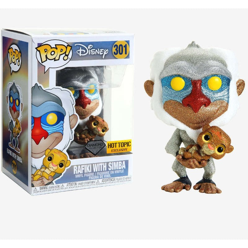 Funko POP! Diamond Collection- Rafiki with Simba - Hot Topic Exclusive!
