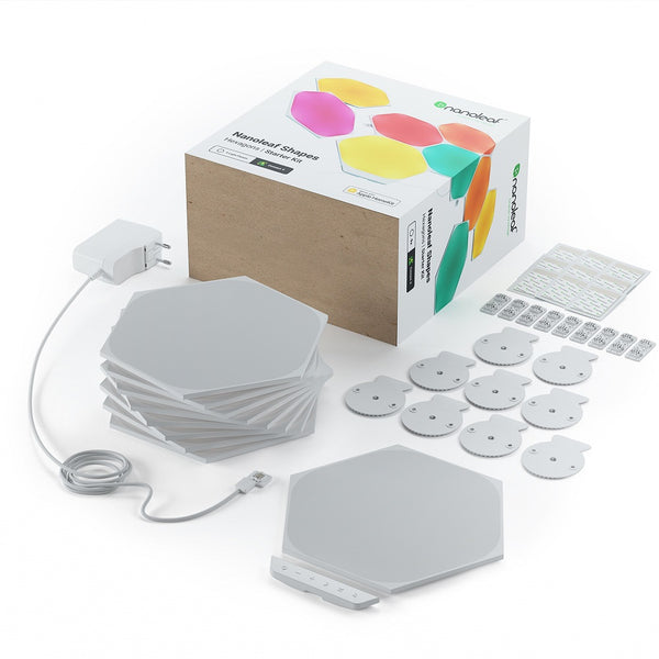 Nanoleaf Shapes - Hex - White - 9 Pack