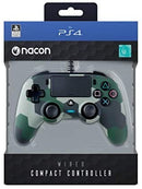 Nacon Compact Wired Controller for PS4 - Camo Green