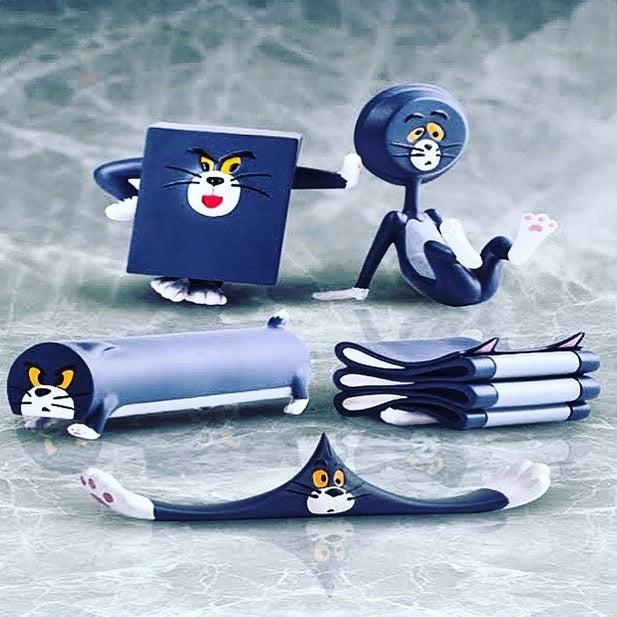 Tom and Jerry Silly Cat Carving Everyday Set PVC Cartoon Figure