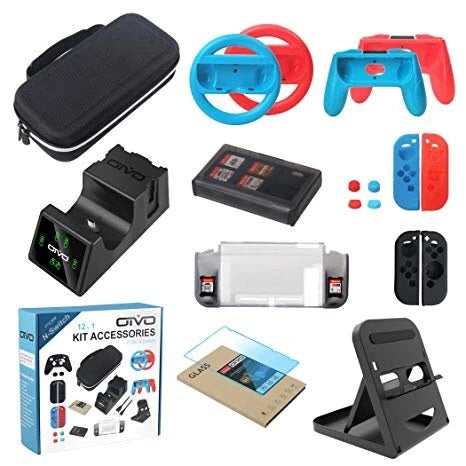 OiVO 12 In 1 Kit Accessories for Nintendo Switch