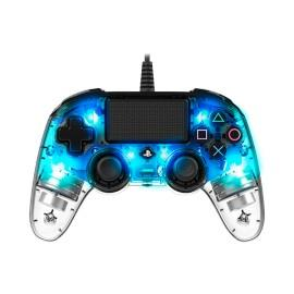 Nacon Compact Light Controller for PS4 - ILLUMINATED Blue