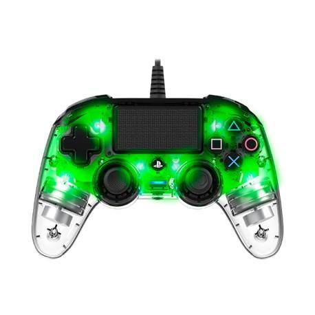 Nacon Compact Light PS4 Controller - ILLUMINATED Green