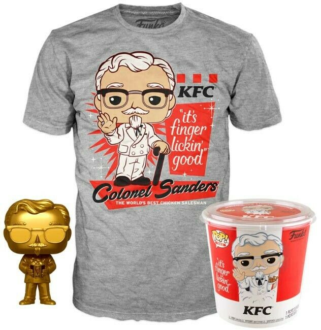 Funko KFC POP! Icons Colonel Sanders Gold & T-Shirt [X-Large]