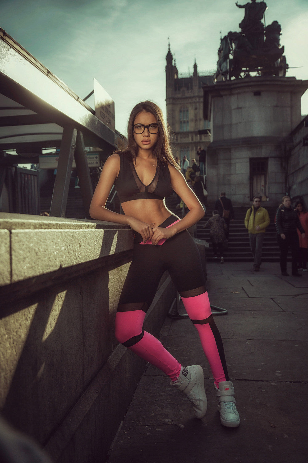 LEGGING SUPERHOT PANTS ACTIVE SPORTS - PINK