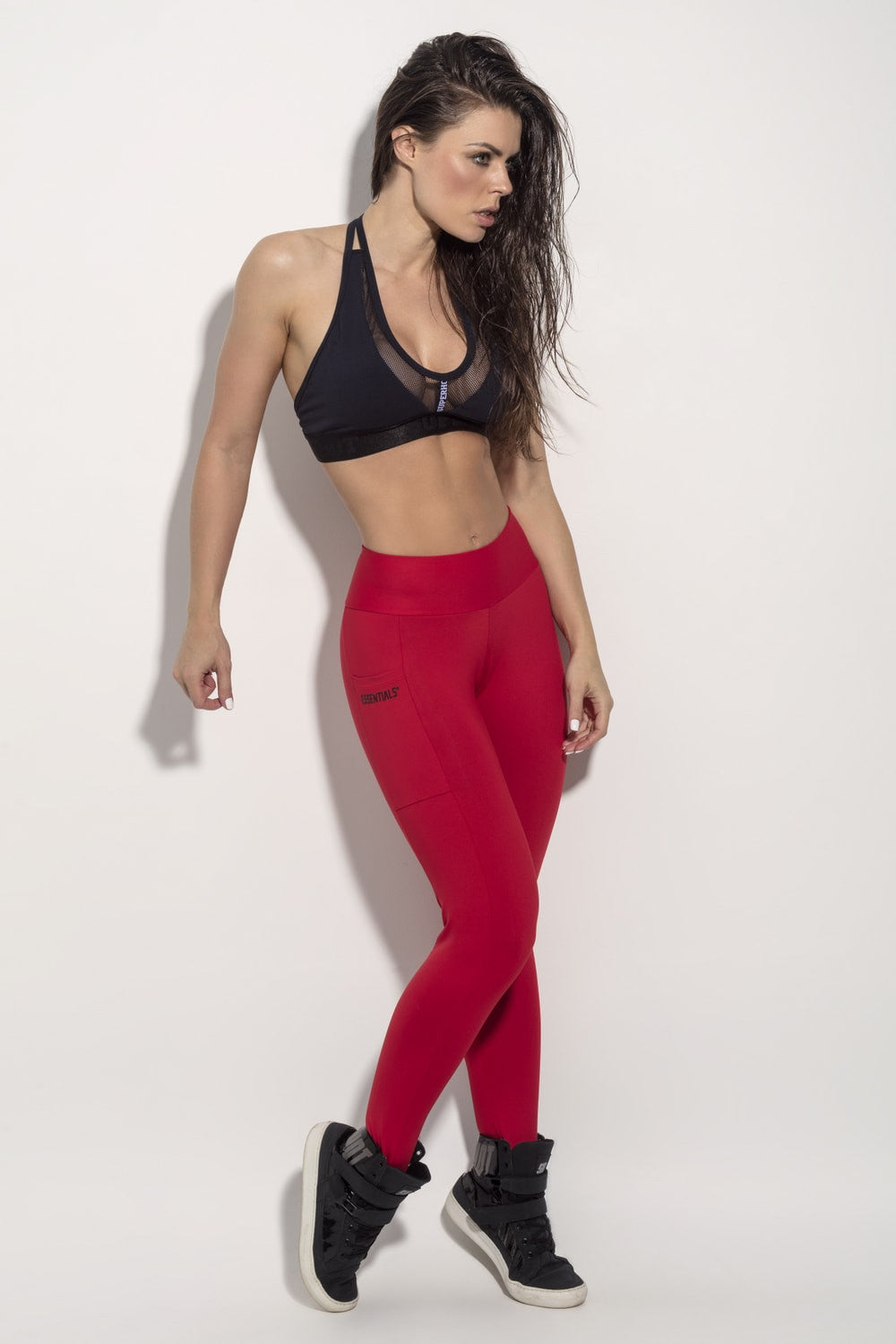LEGGING SUPERHOT ESSENTIALS - RED