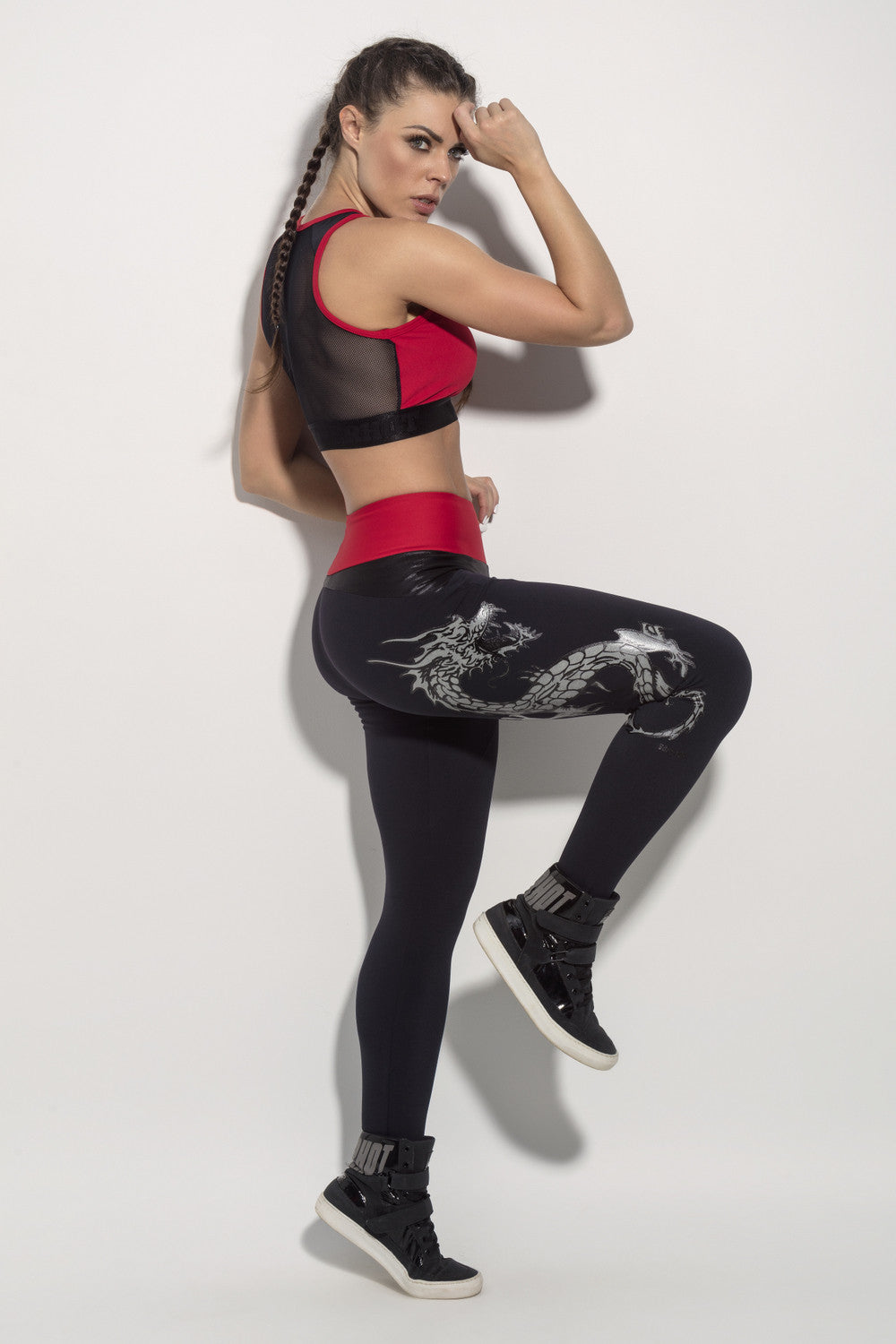 LEGGING BLOOD PANTS DRAGON - BLACK