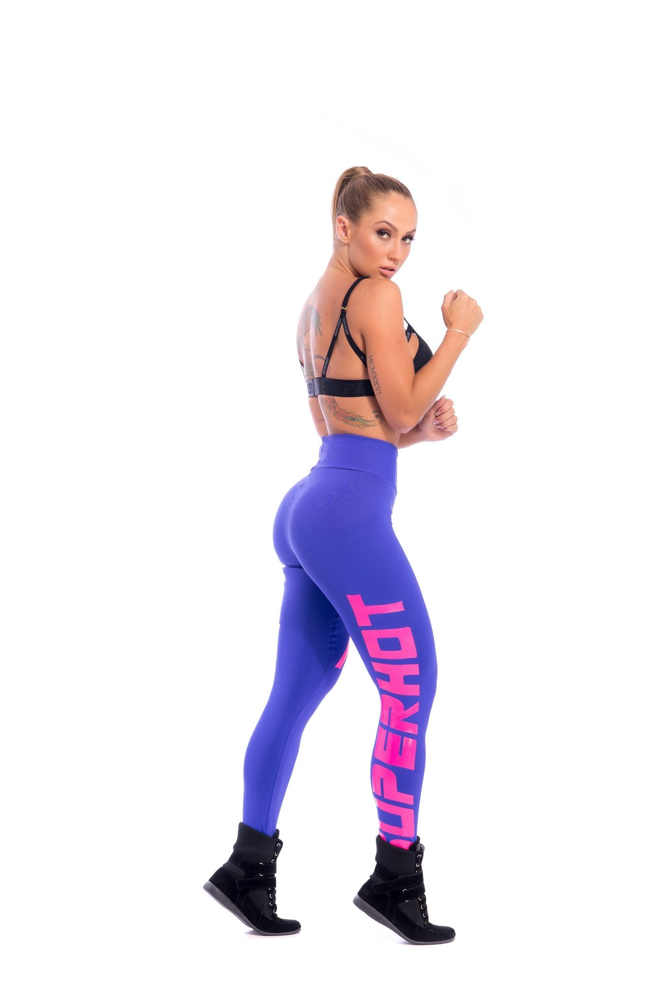 Make Your Mark Legging - Blue & Pink - SUPERHOT - FitZee