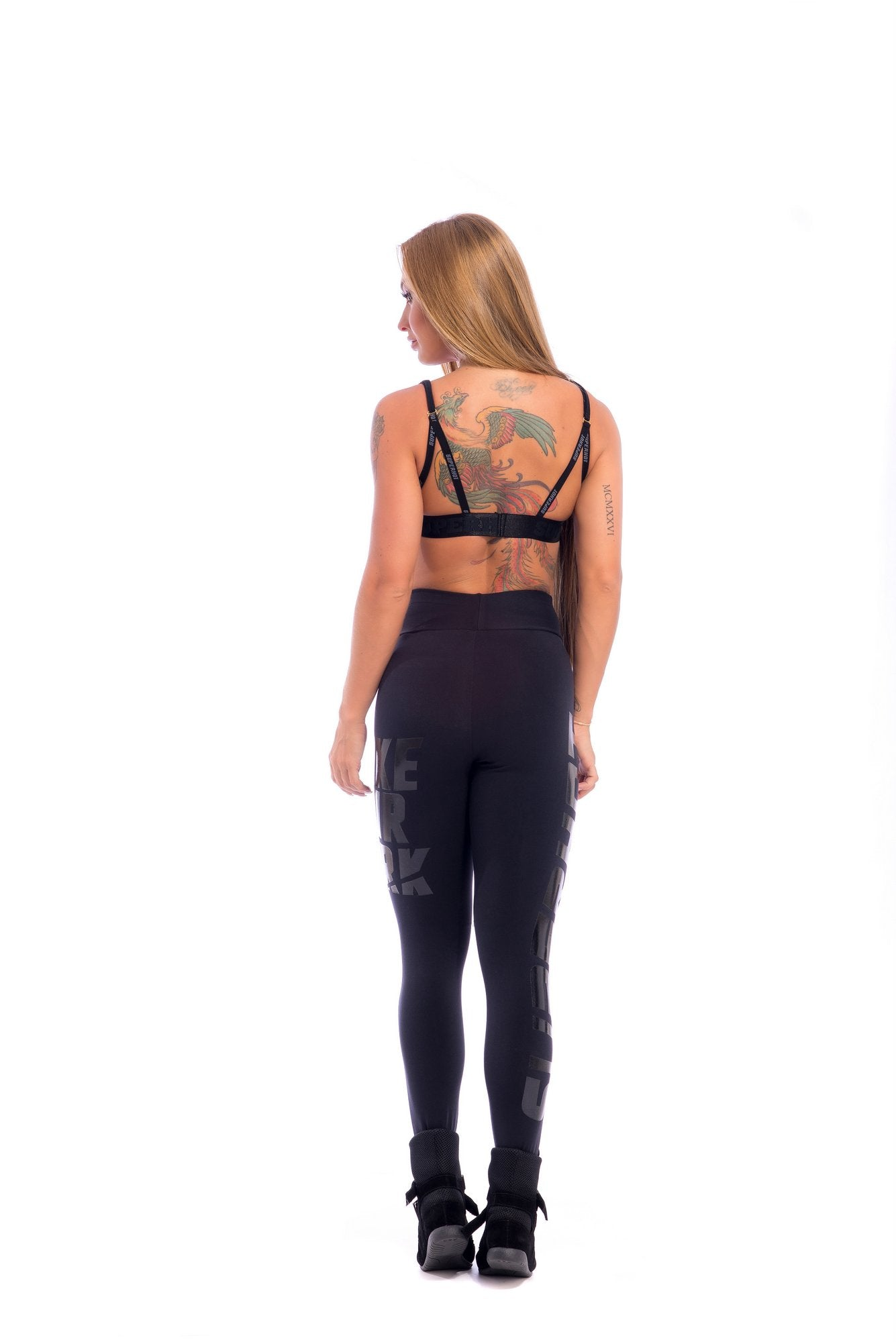 Make Your Mark Legging - Black on Black - SUPERHOT - FitZee
