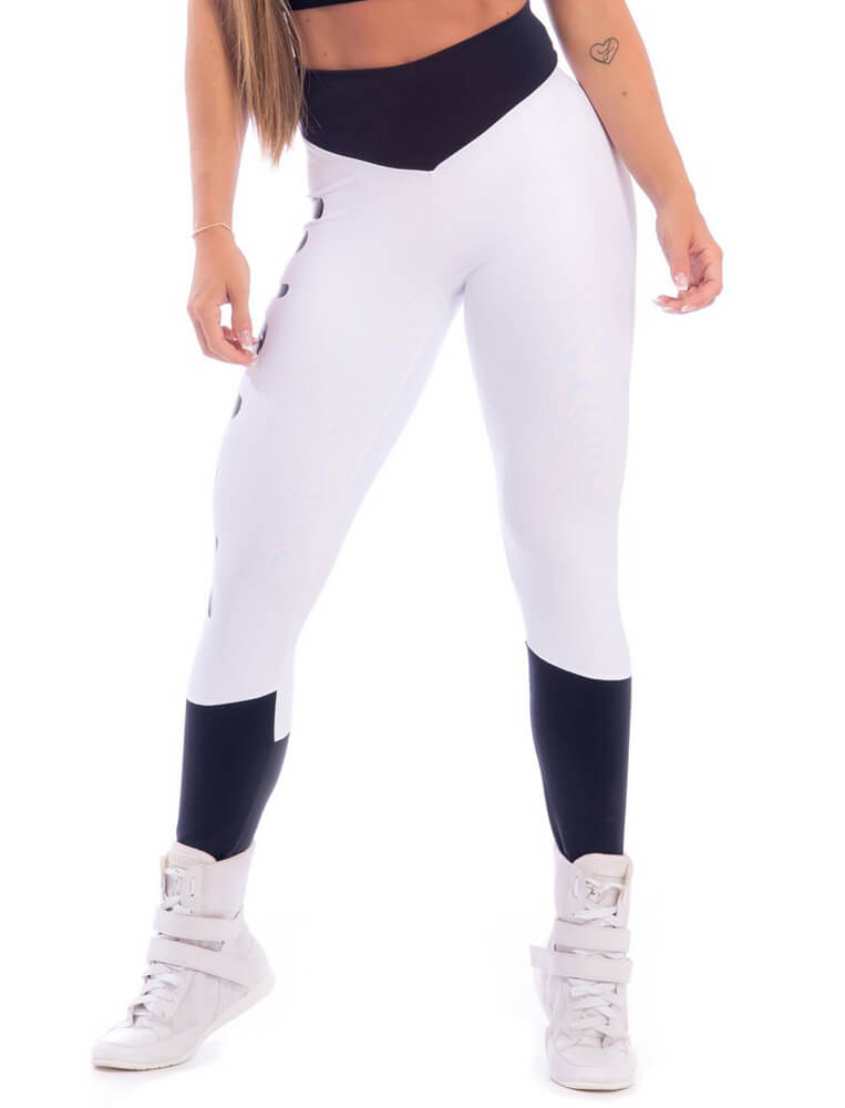 Insane Compression Legging - White & Black - SUPERHOT - FitZee