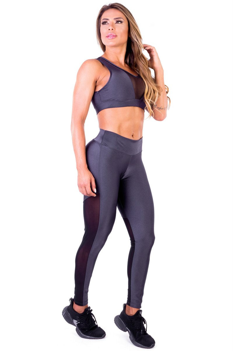 Chicago Set (Sports Bra + Legging) - Garota Fit - FitZee