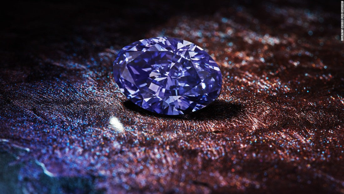 Blue coloured diamond