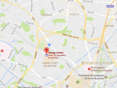 Map of The Jewellery Quarter in Birmingham