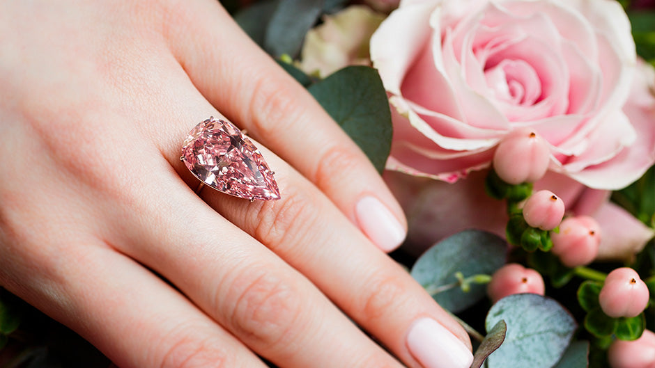 Pink coloured diamond