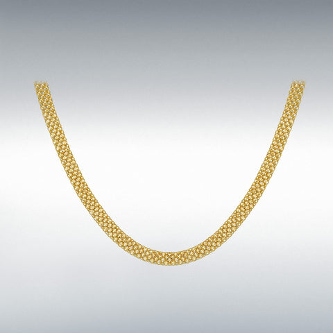 9CT YELLOW GOLD BISMARK NECKLACE 46CM/18""