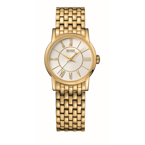 Hugo Boss Ladies Gold Tone Watch 1502242