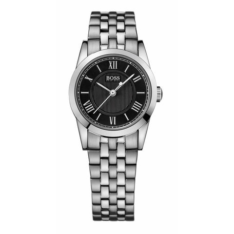 Hugo Boss Black Dial Stainless Steel Ladies Watch 1502282