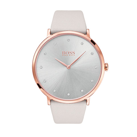 Hugo Boss Ladies Jillian Cream Strap Watch 1502412