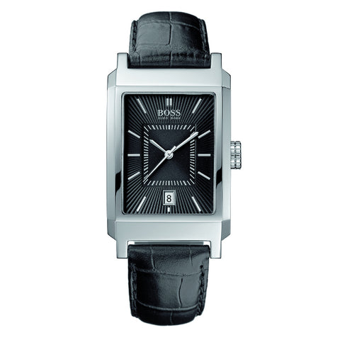 Hugo Boss Men's Black Leather Strap Watch - 1512225